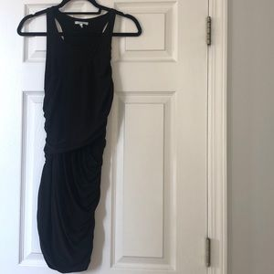 Black stretchy mid dress